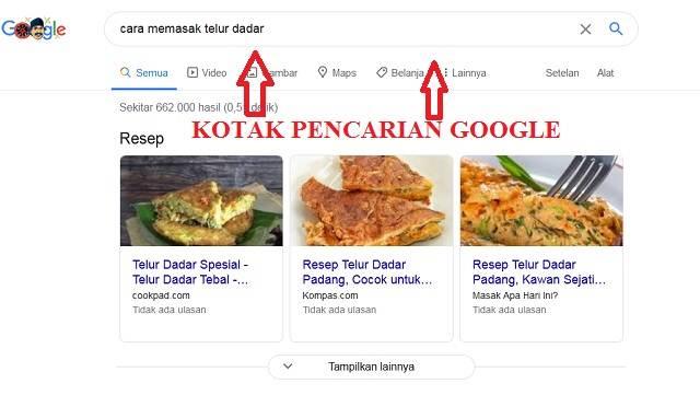 Cara Menulis Artikel SEO Friendly- Kotak pencarian google