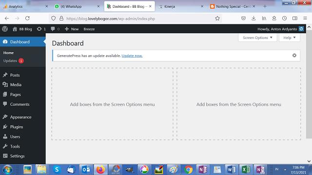 Menyederhanakan Tampilan Dashboard WordPress 4